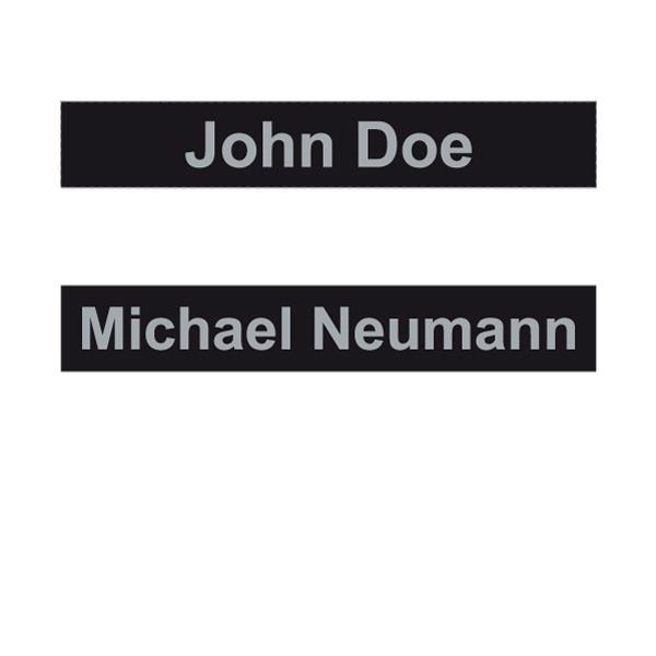 ATE Velcro Name Tag (Product No.: 40-0006)