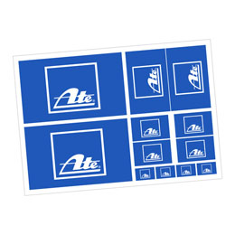 ATE A4 sticker sheet (Product No.: 4001600)